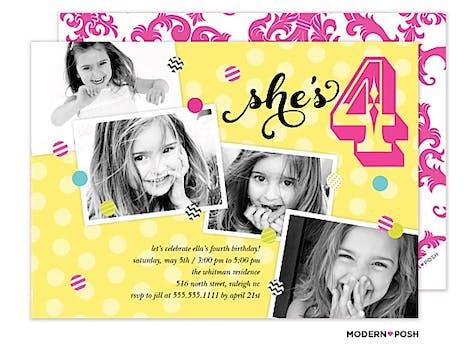 Party With Confetti Photo Invitation