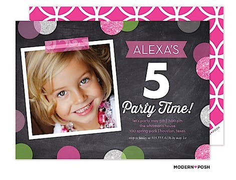Sparkles Photo Invitation