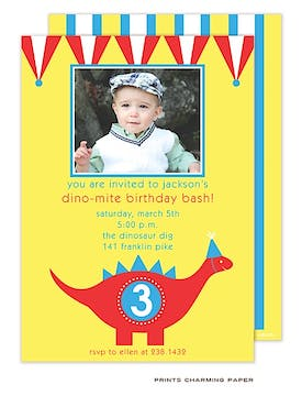 Dino-Mite Party Photo Invitation