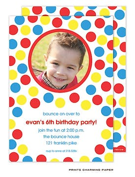 Bounce Party Photo Invitation