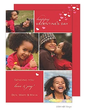 Valentine Cubes Flat Photo Card