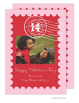 Valentine's Stamp Flat Photo Card