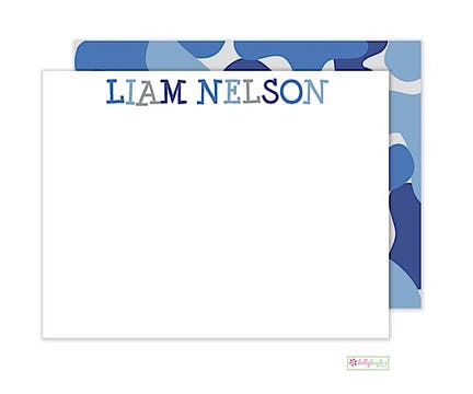 Blue Camo Flat Note