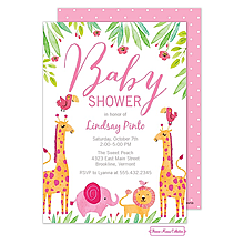 Baby Safari (Pink) Invitation
