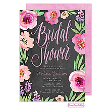 Watercolor Bridal Shower (Chalkboard) Invitation