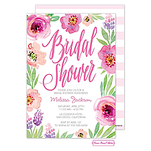 Watercolor Bridal Shower (White) Invitation
