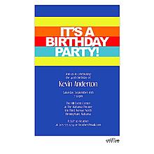 Bright stripes birthday invitation
