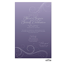 Thistle Swirls Invitation