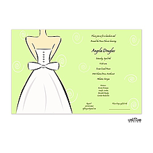 Wedding Dress Invitation