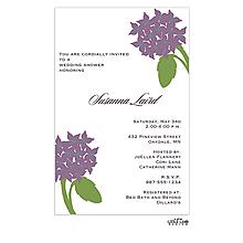 Purple Bouquet Invitation