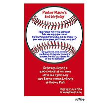 Red Baseball Invitation