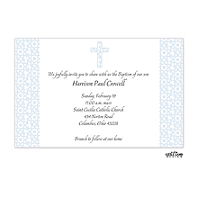 Elegant Blue Cross Invitation