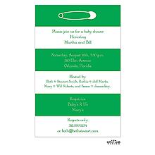 Bold Striped Diaper Pin Invitation