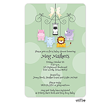 Sweet Animals Mobile Invitation