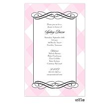 Pink Plaid Invitation