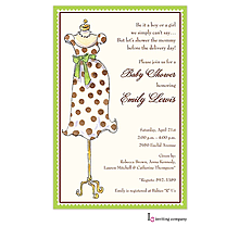 Mommy Mannequin Invitation