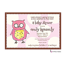 Owl Girl Invitation