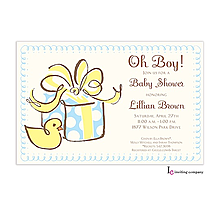 Boy Ducky Invitation