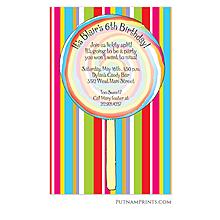 Rainbow Swirl Invitation