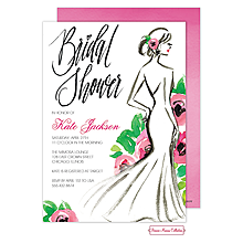 Stylish Bridal Silhouette Invitation
