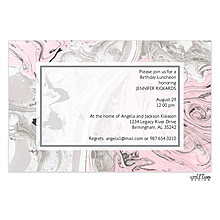 Pink and Silver Marbled Invitation