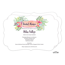 Fresh Floral Bouquet Invitation