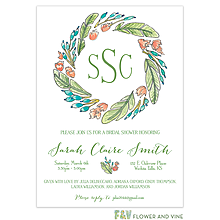 Playful Wreath Invitation