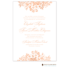 Bouquet Border Foil Pressed Invitation