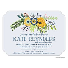 classic bridal shower party invitations