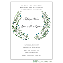 Buds and Greenery Invitation