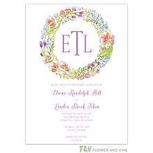 Splendid Wreath Invitation