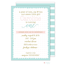 Scallop Dots Girl Invitation
