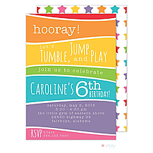 Colorful Rainbow Invitation