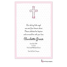 Cross Pink Invitation