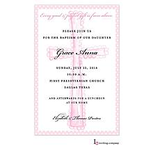 Cross Blush Invitation