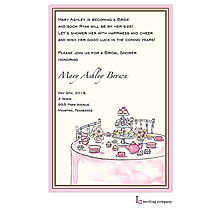 Tea Table Invitation