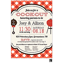Red Check Cookout Invitation