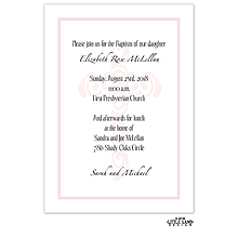 Decorative Cross Background Baptism Invitation