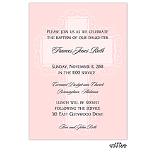 Pink Fancy Cross Background Invitation