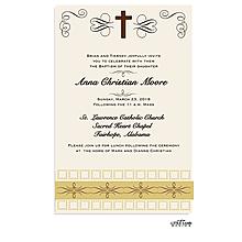 Elegant Cross Invitation