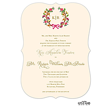 Flowery Wreath Invitation