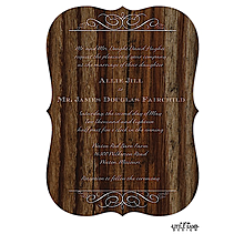 Cherry Wood Invitation