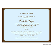 Simple Frame Wide Baby Blue Invitation