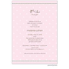 A Kiss Goodnight Pink Invitation