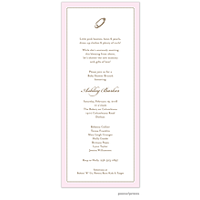Tiny Beads Baby Pink Invitation