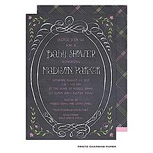 Sweet Pink Chalkboard Baby Shower Invitation