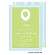 Baby Boy Silhouette Shower Invitation