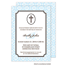 Baby Boy Baptism/Christening Invitation