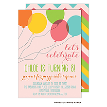 Fun Balloons Birthday Party Invitation