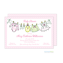 Little Clothes Invitation - Pink